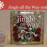 How to Make a Jingle all the Way Glass Block