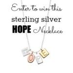 HOPE Necklace Giveaway from HugaMom.com