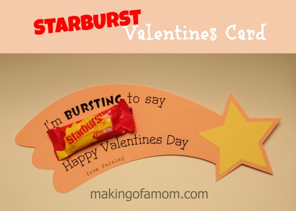 picture regarding Starburst Valentine Printable named Starburst Valentines Working day Card