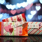 Valentine's Day Candy Bar Wrappers