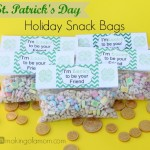 St. Patrick's Day snack bags with file cut files and printables