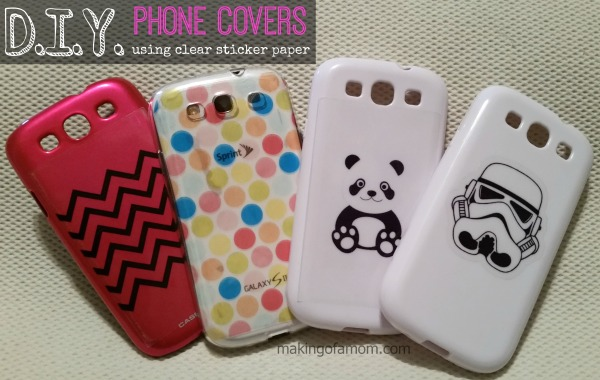 DIY Phone Covers with Silhouette Clear Sticker Paper