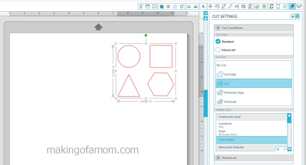 4 easy to steps to cutting out your project on a Silhouette cutting machine