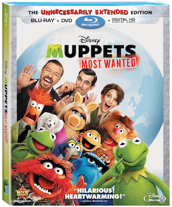 Muppets Most Wanted bluray Combo
