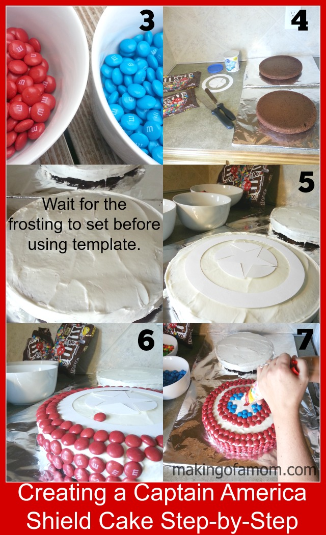 How to Make a Captain America Shield Cake with MMs