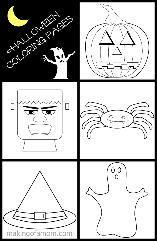Free Halloween Coloring Pages - makingofamom.com