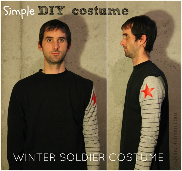 Simple DIY costume of the the Winter Soldier from the movie Captain America the Winter Soldier