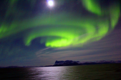 The magical corona of Northern Lights.