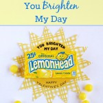 You Brighten My Day Valentine Card
