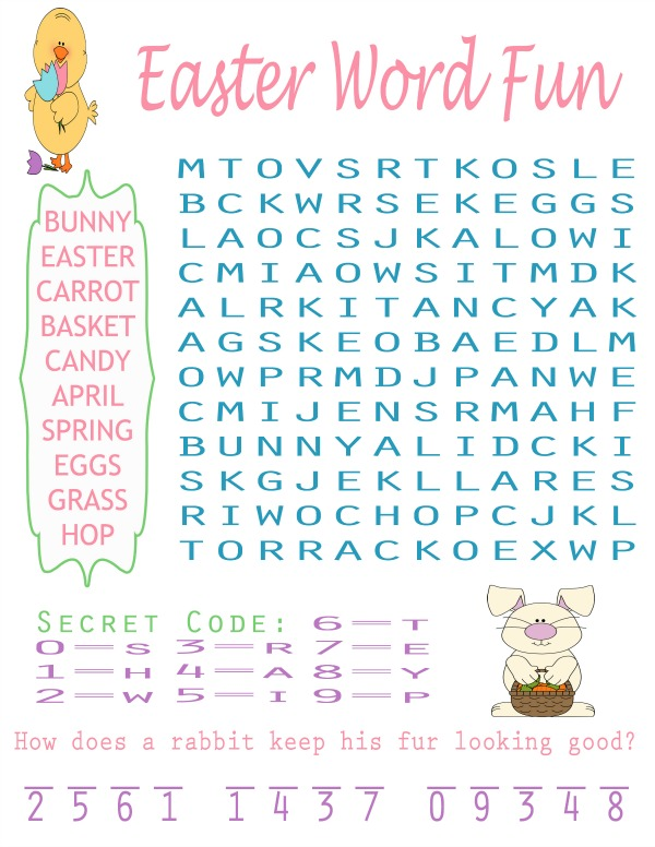 This is a photo of Printable Easter Word Searches intended for 5th grade