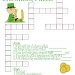 St. Patrick's Day Crossword Puzzle Printable