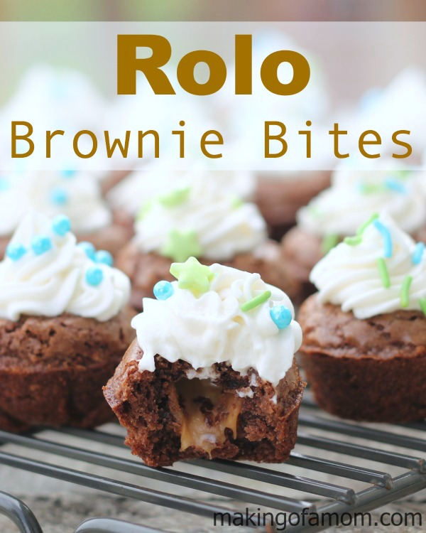 Rolo-Brownie-Bites