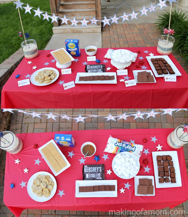 #LetsMakeSmores-Table-Setup