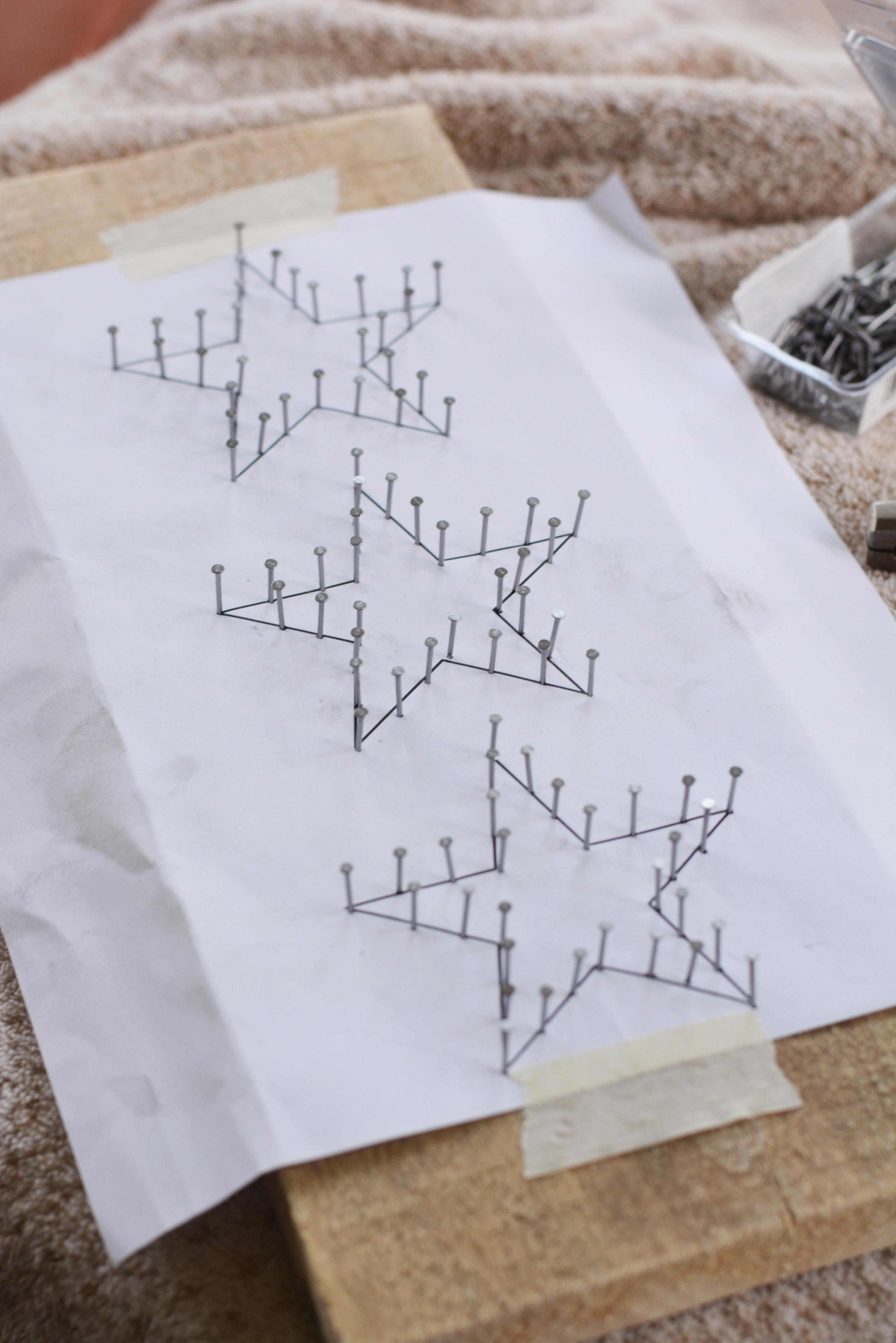 Star string art tutorial 3 star string art tutorial baditri Image collections