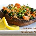 Salmon-Spinach Mushroom 'Burgers'