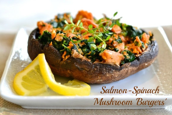 Salmon-Spinach-Mushroom-Burgers