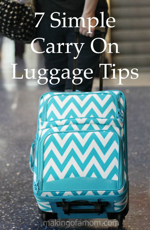 7 Simple Carry On Luggage Packing Tips