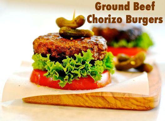 Ground Beef-Chorizo Burgers