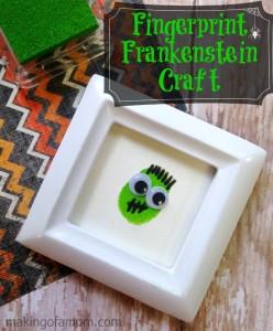 Fingerprint Frankenstein Halloween Craft