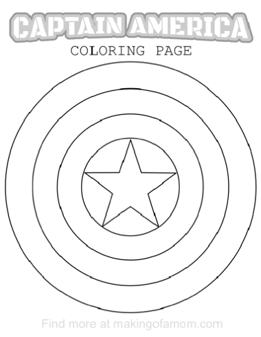 Captain America Coloring Pages - Making of a Mom
