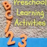 Simple Preschool Learning Activities