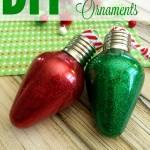 DIY Glitter Bulb Ornaments