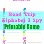 (Printable) Alphabet I Spy Road Trip Game