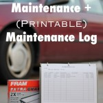 DIY Car Maintenance + Car Maintenance Log