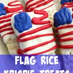 Flag Rice Krispie Treats