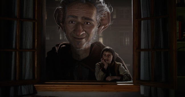 "Disney""s THE BFG is the imaginative story of a young girl named Sophie (Ruby Barnhill) and the Big Friendly Giant (Oscar(R) winner Mark Rylance) who introduces her to the wonders and perils of Giant Country. Directed by Steven Spielberg based on Roald Dahl's beloved classic, the film opens in theaters nationwide on July 1."