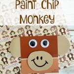 Paint Chip Monkey Craft