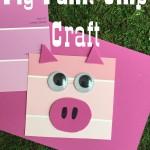 Pig Paint Chip Craft