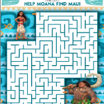 Moana Activity Sheets