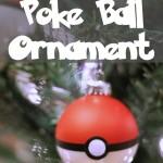 DIY Poke Ball Christmas Ornament
