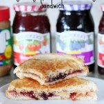 Grilled Very Berry Peanut Butter & Jelly Sandwich