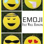 Emoji Felt Wall Hanging
