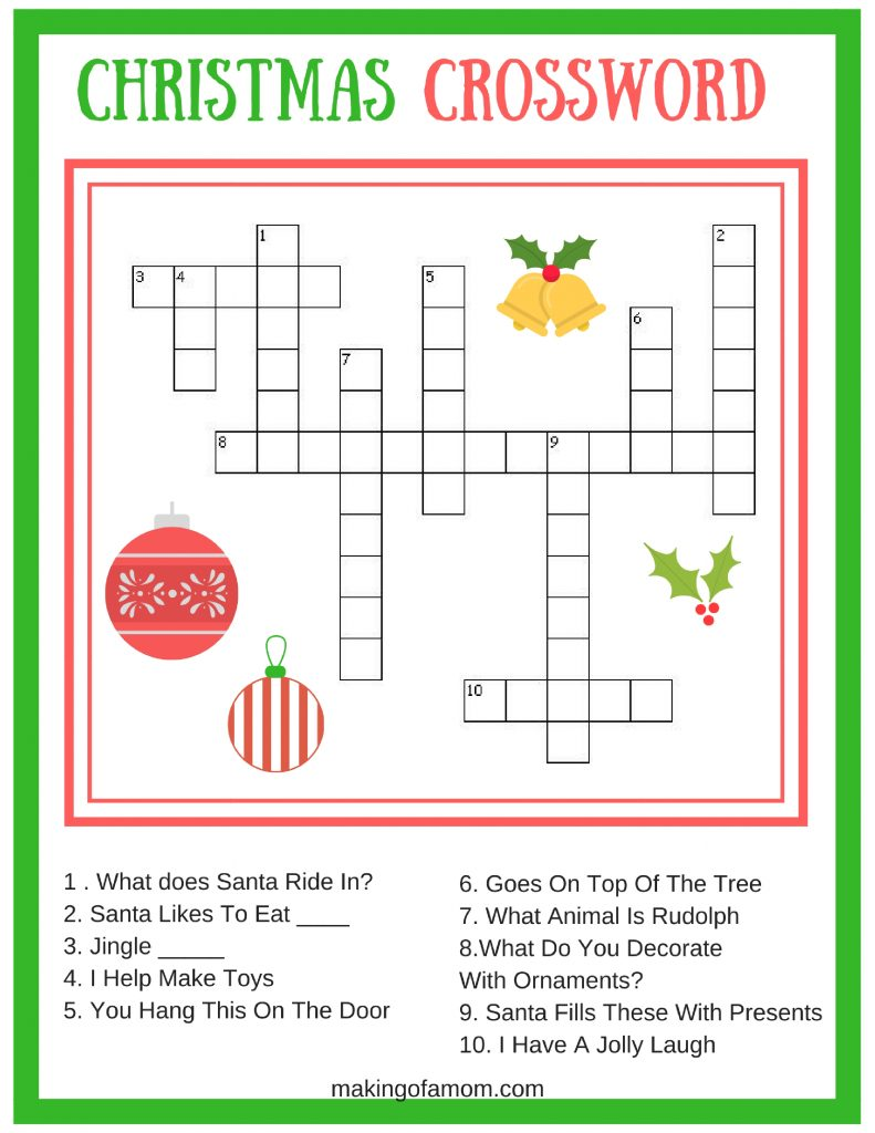 picture relating to Free Printable Christmas Games for Adults titled Cost-free Printable Xmas Online games - Developing of a Mother
