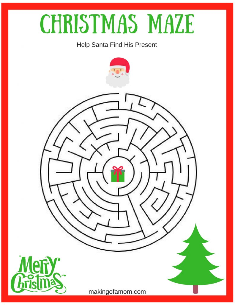 image regarding Free Printable Christmas Games for Adults known as Totally free Printable Xmas Online games - Generating of a Mother