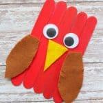 Craft Stick Cardinal Craft