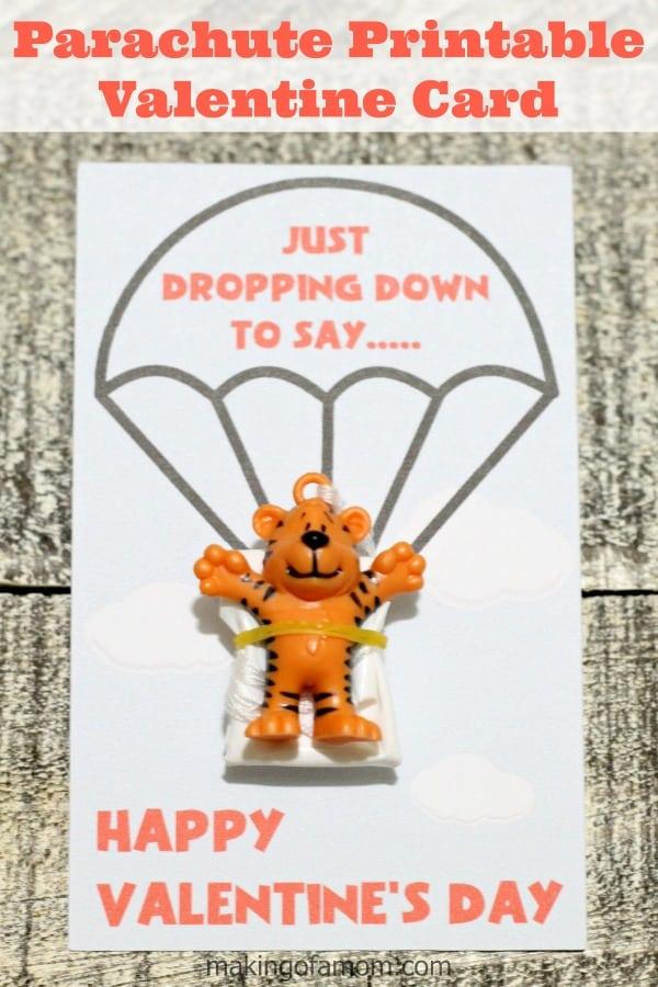 Parachute Printable Valentine Card