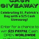 $25 Cash St. Patrick's Day Giveaway