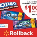 Celebrate the OREO Chocolate King Size Candy Bar Rollback